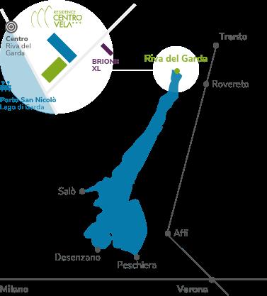 Immagine mappa location Residence Centro Vela